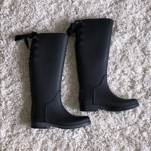 Coach Trustee Lace Up Tall Boots